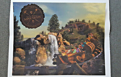 Disney 2014 Seven Dwarfs Mine Train Grand Opening 3D LIMITED RELEASE Lithograph