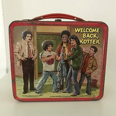 Vintage Aladdin WELCOME BACK KOTTER Metal Lunch Box NO Thermos 1977