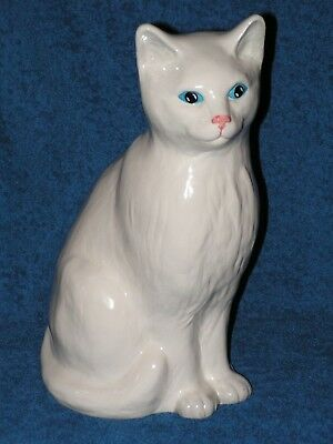 A Large Siamese Cat Figurine Made By H. A. Wain & Sons.