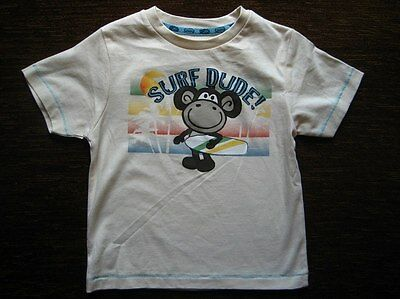 Boys' Cream Cotton Monkey T-shirt 12-18 Months TU New with Tags