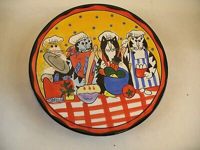 Catzilla Plate cats pictured 2002 Candace Reiter Design