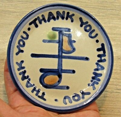 "M. A. Hadley ""thank You Thank You Thank You"" Mini-Plate"
