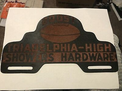 Wheeling Triadelphia West Virginia License Plate Topper Booster Football