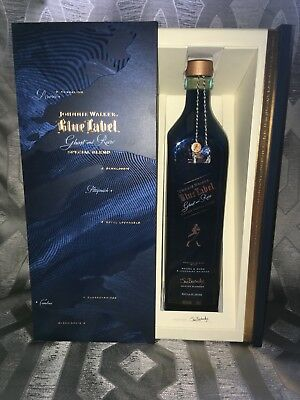 johnnie walker blue label special edition ghost and rare empty 750ml bottle
