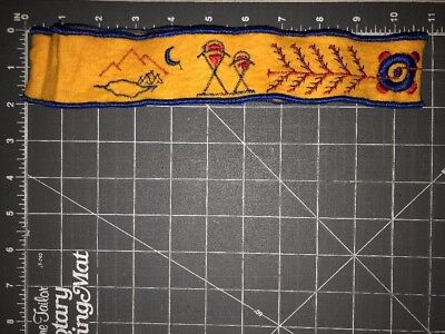 Vintage Boy Scouts of America BSA Cub Indian Guides YMCA Headband Yellow Pack
