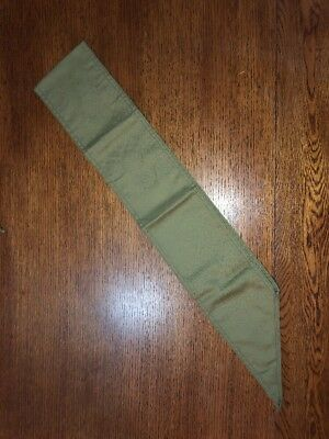 Vintage Boy Scouts of America BSA Green Scarf Merit Badge Patch Sash