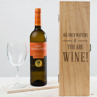 Personalised Funny Birthday Wine Box Gift Men Him Dad 30th 40th 50th 60th Bday
