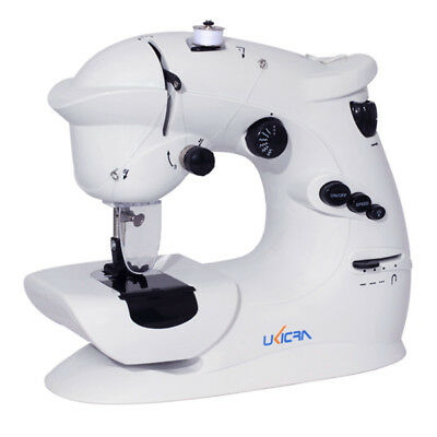 7 Stitches Mini Electric Overlock Sewing Machine Multifunction Portable Double S