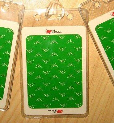 Air Portugal Luggage Tags - Repurposed Vintage TAP Portugese Playing Cards (3)