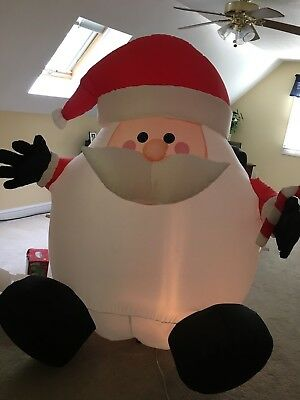 Gemmy Holiday Time Airblown Inflatable 6 Ft Chubby Santa-CUTE EUC