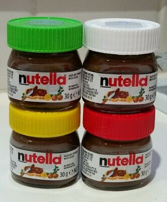 Mini Nutella Jars 4 Festive Colours Rare Collectable Limited Edition 30g Ferrero