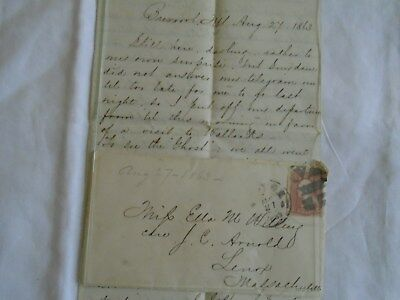 CIVIL WAR LETTER  FROM a 4th CORPS POTOMAC  UNION ARMY CAPTAIN AUG 27th 1863.