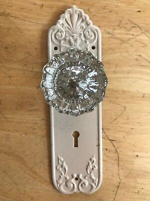 Antique Glass Door Knob and Decorative Plate
