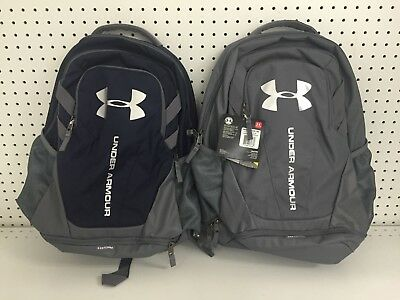 New Under Armour Hustle 3.0 III Laptop Backpack Graphite or Navy Water Resistant