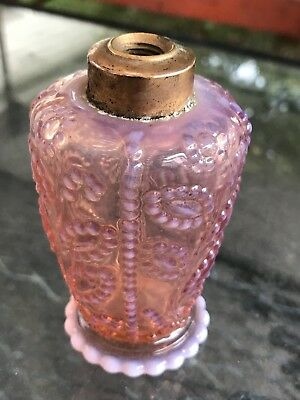 Cranberry Gay Ninties Antique old Miniature Oil Lamp