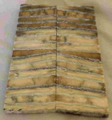 Siberian Mammoth Tooth Scales Stabilized 92 mm x 30 mm x 6.4 mm #MT26
