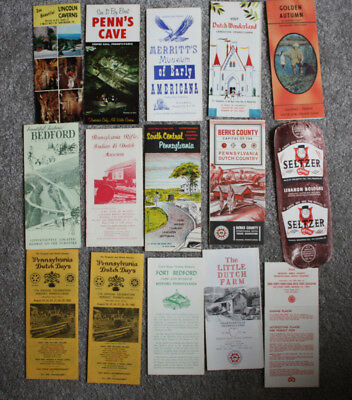 1960s Central Pennsylvania Travel Brochures Lot of 16, Lebanon Balogna