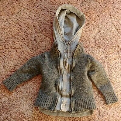 Country Road Baby Boy Wool Jacket Hoody size 1?