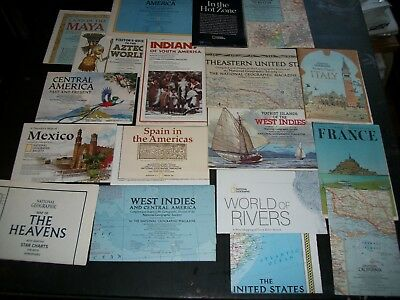 Lot of 17National Geographic maps