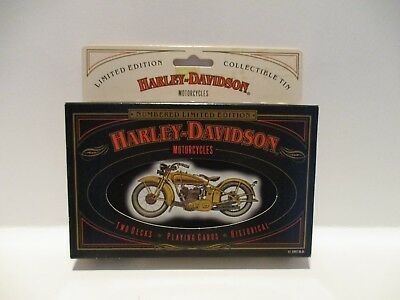 "Harley Davidson Two Deck Playing Cards 1997 Limited Edition Collectible Tin ""Fre"