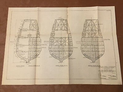 1913 Panama Canal Sketch Diagram Lock Entrance Caisson Cross Frames Culebra