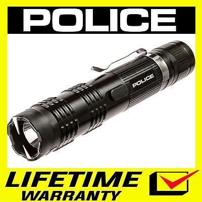 POLICE STUN GUN M12 Aluminum Series Rechargeable LED Flashlight + Holster