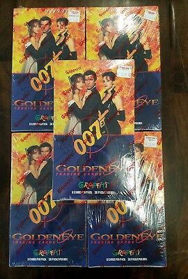 1995 James Bond 007 Trading Cards (5) Factory Sealed Boxes Goldeneye  P. Brosnan