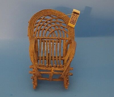 Raine Take A Seat Willow Rocker #24046 Display or Dollhouse Chair COA & Box MINT