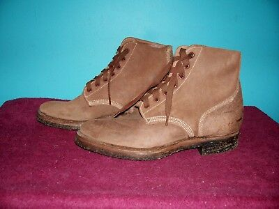 Orig. Unissued Ww Ii U.s.m.c. 3/4 Leather Flesh Out Boots Dated 1945 Size 6 1/2