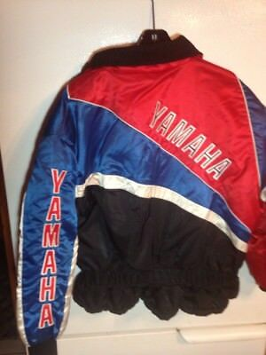 Vintage Yamaha 1980's Women's Snowmobile Jacket Size XL Spell Out On Back 👌