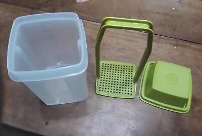 Tupperware #1330 ~ Pick-a-Deli Container ~ Pickle Keeper ~ Olive Green