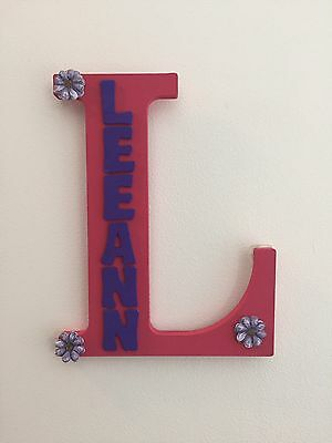 "Handmade - Monogram Wooden Letter ""L"" - With The Name Leeann"