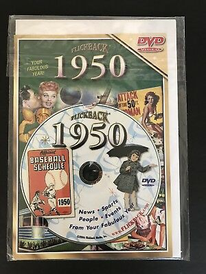 Flickback 1950 DVD Video 68th Birthday Card