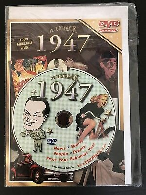 Flickback 1947 DVD Video 71st Birthday Card