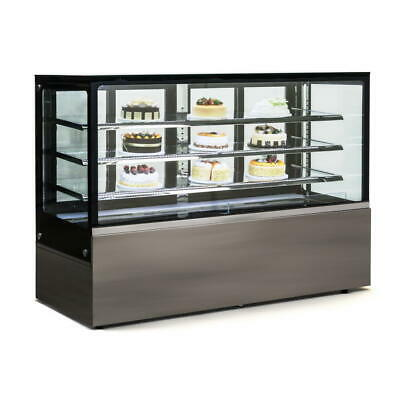 Commercial Display Fridge Cake Showcase 4 Layers 1800mm length heated glass