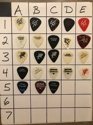 Great White Guitar Pick Mark Kendall 3A 1989 Tour