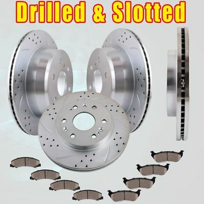 Front Rear Brake Rotors and Ceramic Pads for 2010-2012 Suburban 1500 Base 6.0L
