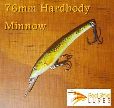 Fishing Lures 76mm Trout Bream Whiting Flathead Bass Yellowbelly Tackle