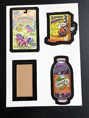 Very Rare 2008 LOST WACKY PACKAGES 2nd Series QUAD BLOCK of 4 Titles