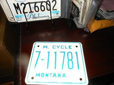 Montana 1976 motorcycle license plate, never issued