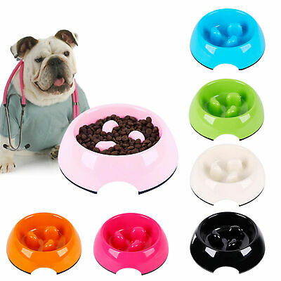 Slow Feed Dog Bowl Anti Chocking Healthy Eating Pet Feeder Interactive Bloat