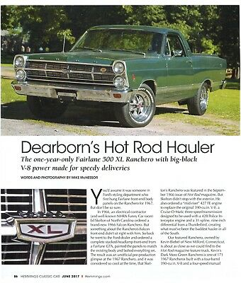 1967 FORD FAIRLANE 500 RANCHERO XL 390 V8 4 SPEED Color 3 Page Article