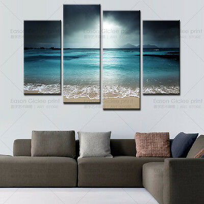 Huge Modern Abstract Wall Picture Home Decor Painting Artwork-Seascape & Beach
