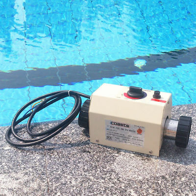 Electric Heater Tub 3KW Pool&SPA Hot Bath Thermostat Heating Swimming Water 220V