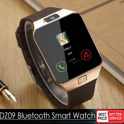 LATEST DZ09 Bluetooth Smart Watch Camera SIM Slot For Samsung HTC Android Phone
