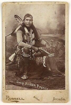 Chief Broken Branch, Southern Plains Cheyenne Indian Photograph, Arcadia Okla.