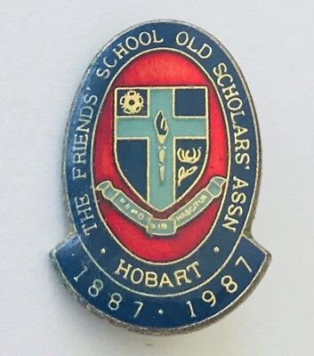 Hobart The Friends School Old Scholars 1987 Badge Pin Rare Vintage (J10)