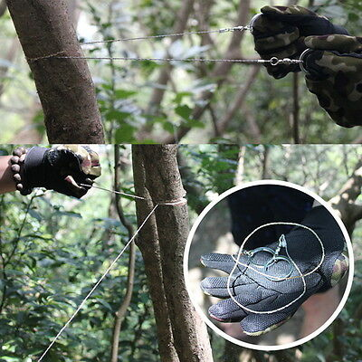 Portable Practical Emergency Survival Gear Steel Wire Saw Outdoor Tools   0A9