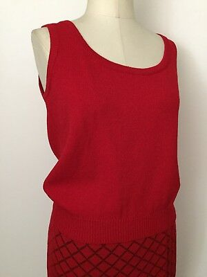 St. John By Marie Gray Collection 2 Piece - Tank and Skirt - Size Small - Red