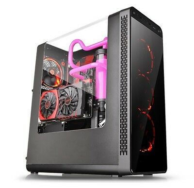 Thermaltake View 27 Black ATX Gull Wing Window Tt LCS Certified Gaming Mid Tower